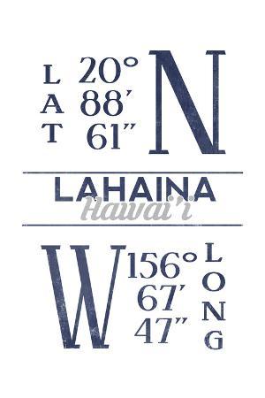 Lahaina, Hawaii - Latitude and Longitude (Blue)