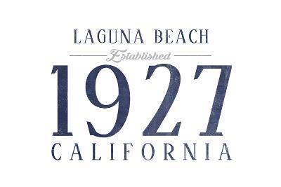 Laguna Beach, California - Established Date (Blue)