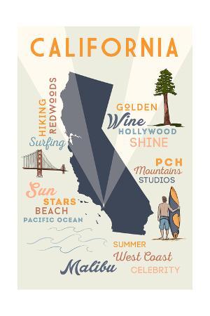 Malibu, California - Typography and Icons