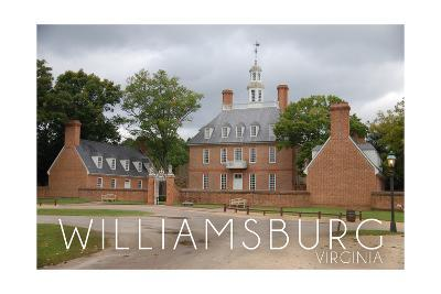 Williamsburg, Virginia - Governors Palace and Gray Sky