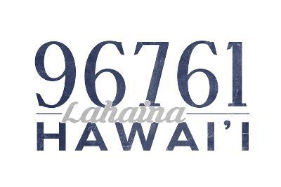 Lahaina, Hawaii - 96761 Zip Code (Blue)