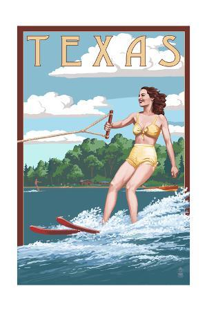 Texas - Water Skier and Lake
