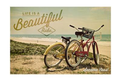 Sonoma Coast, California - Life is a Beautiful Ride - Beach Cruisers