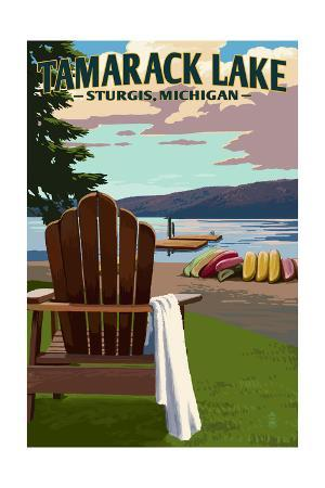 Sturgis, Michigan - Tamarack Lake - Adirondack Chairs