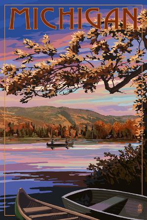Michigan - Lake Sunset Scene