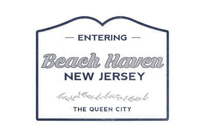 Beach Haven, New Jersey - Now Entering (Blue)