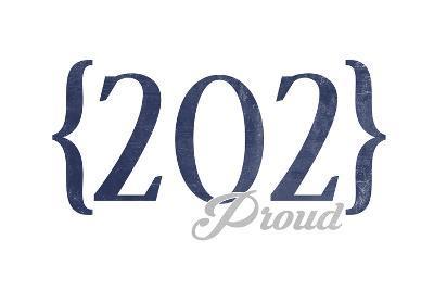 Washington D.C. - 202 Area Code (Blue)