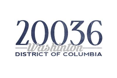 Washington D.C. - 20036 Zip Code (Blue)