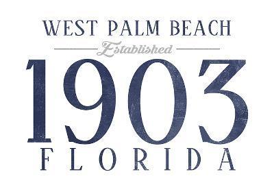 West Palm Beach, Florida - Established Date (Blue)