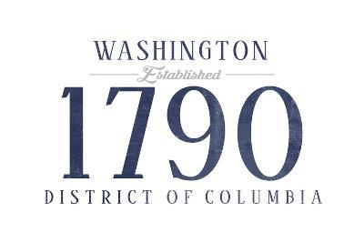 Washington D.C. - Established Date (Blue)