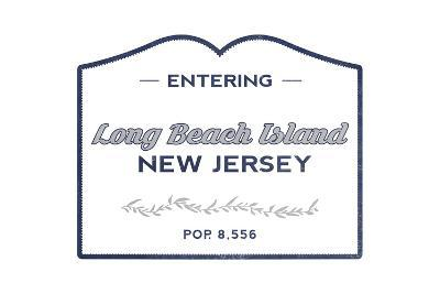 Long Beach Island, New Jersey - Now Entering (Blue)