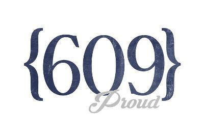 Long Beach Island, New Jersey - 609 Area Code (Blue)