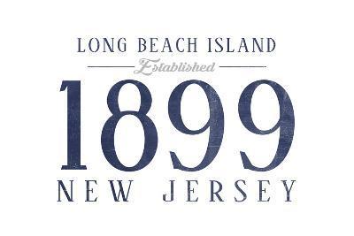 Long Beach Island, New Jersey - Established Date (Blue)