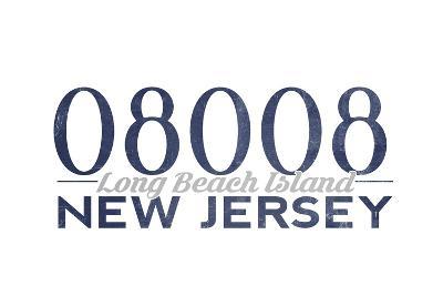 Long Beach Island, New Jersey - 08008 Zip Code (Blue)