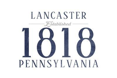 Lancaster, Pennsylvania - Established Date (Blue)