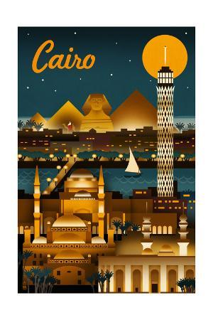 Cairo, Egypt - Retro Skyline