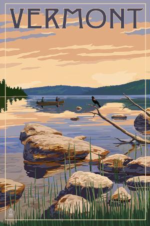 Vermont - Lake Sunrise Scene