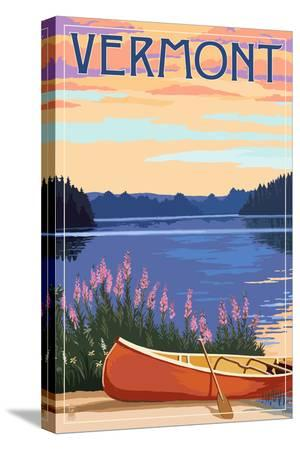 Vermont - Canoe and Lake