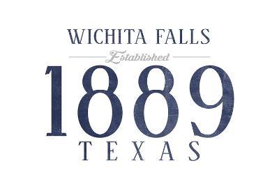 Wichita Falls, Texas - Established Date (Blue)