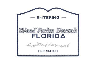 West Palm Beach, Florida - Now Entering (Blue)