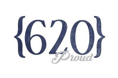 Wichita Falls, Texas - 620 Area Code (Blue)