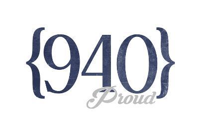 Wichita Falls, Texas - 940 Area Code (Blue)