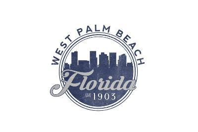 West Palm Beach, Florida - Skyline Seal (Blue)