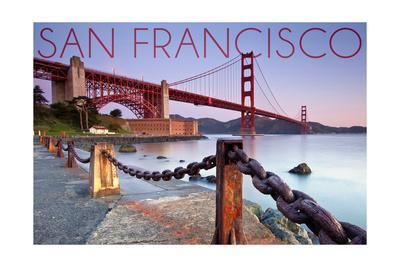 San Francisco, California - Golden Gate View