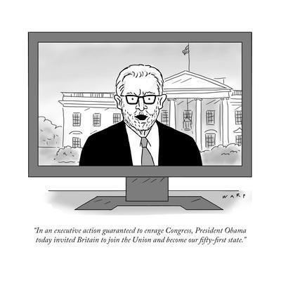 """In an executive action guaranteed to enrage Congress, President Obama tod…"" - Cartoon"