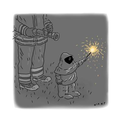 Sparkler Safety - Cartoon