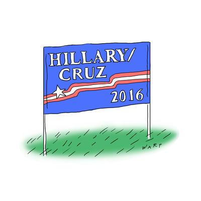 Hillary/Cruz 2016 - Cartoon