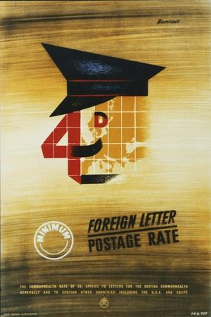 4D Minimum Foreign Letter Postage Rate