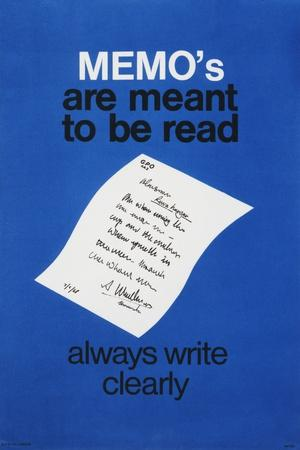 Memo's are Meant to Be Read - Always Write Clearly