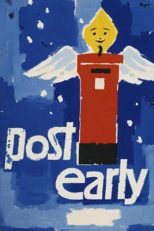 Post Early, Parcels and Packets by Thursday De 18, Letters and Cards by Saturday Dec 20