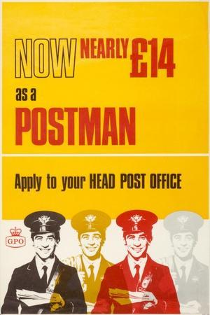 Now Nearly £14 as a Postman