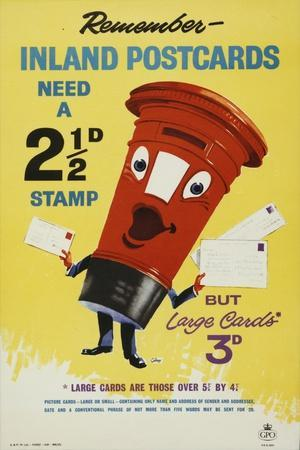 Remember Inland Postcards Need a 2¢D Stamp
