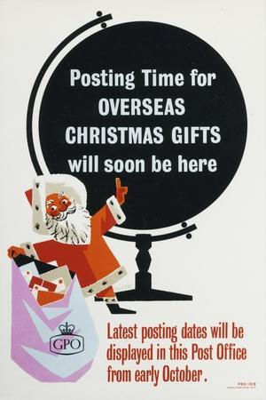 Posting Time for Overseas Christmas Gifts Will Soon Be Here