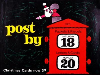 Post by Dec 18th Packets and Parcels, Dec 20th Letters and Cards