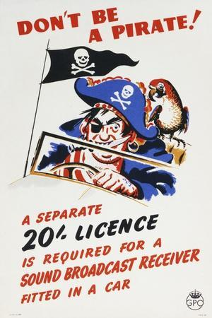 Don't Be a Pirate! A Separate 20 Licence Is Required for a Sound Broadcast Receiver Fitted in a Car