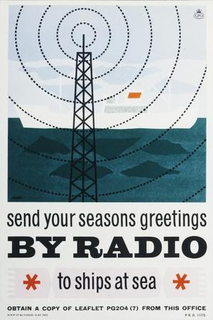 Send Your Christmas Greetings by Radio to Ships at Sea