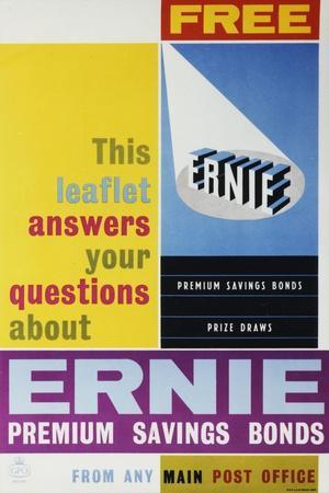 Ernie Premium Savings Bonds
