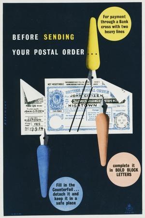 Before Sending Your Postal Order