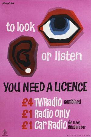 To Look or Listen You Need a Licence