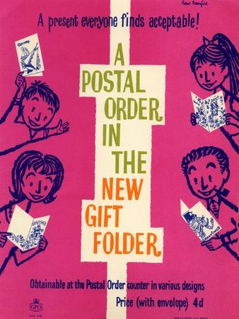 A Present Everyone Finds Acceptable! a Postal Order in the New Gift Folder