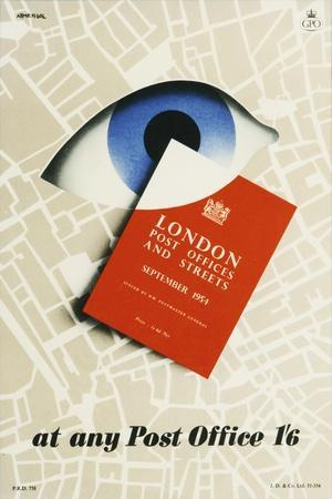 London Post Offices and Streets September 1954, at Any Post Office 1'6