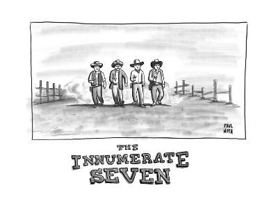 THE INNUMERATE SEVEN - New Yorker Cartoon
