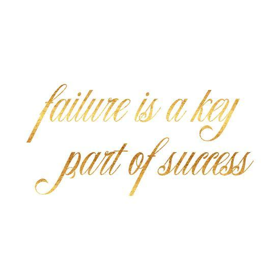 Inspirational Quotes About Failure: Failure Success Quote Gold Faux Foil Inspirational Quotes