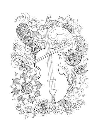 Musical Instrument Pattern 6