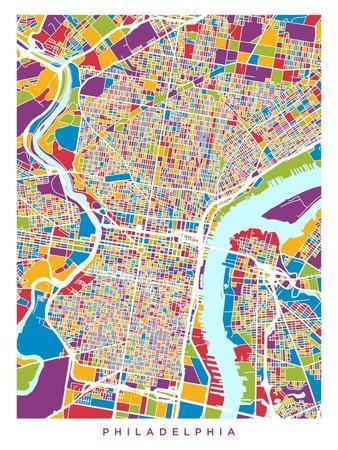 Philadelphia Pennsylvania Street Map
