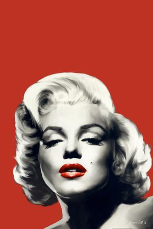 Red Lips Marilyn in Red
